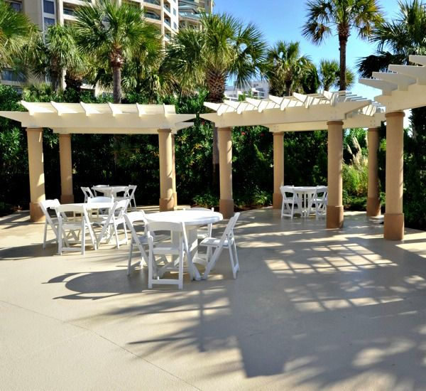 Shady area for a picnic at Westwinds at Sandestin in Destin Florida