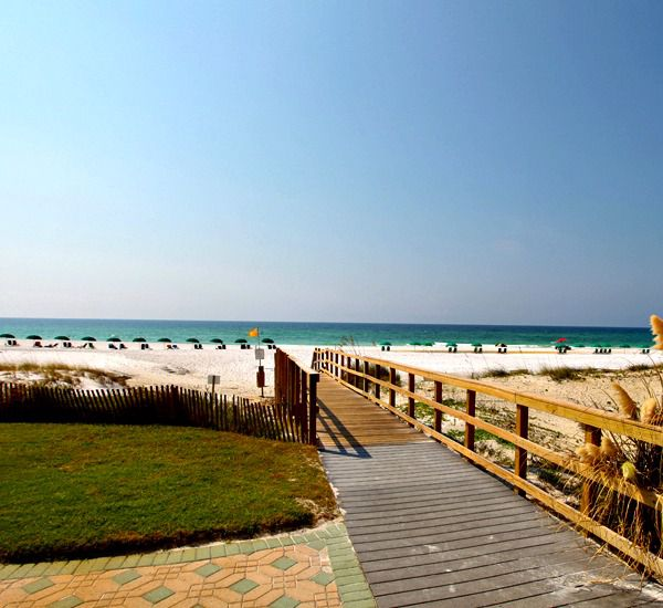 It is an easy walk to the sand and Gulf waters from Windancer in Destin Florida