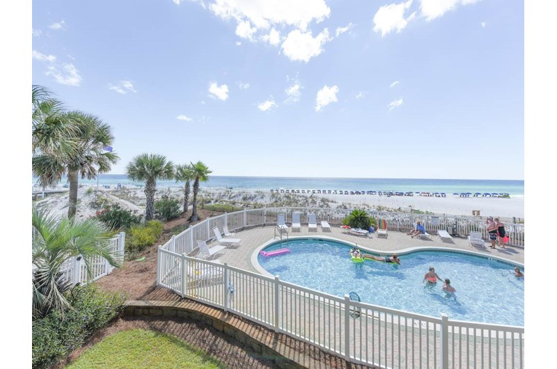 Pool view at Windancer in Destin Florida