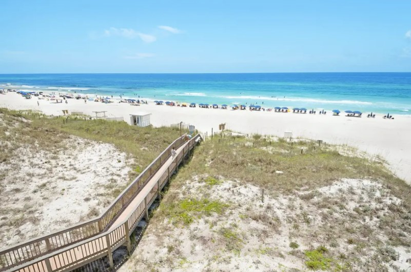 Balcony view of Seagrove Beach at Dunes of Seagrove at Highway 30A