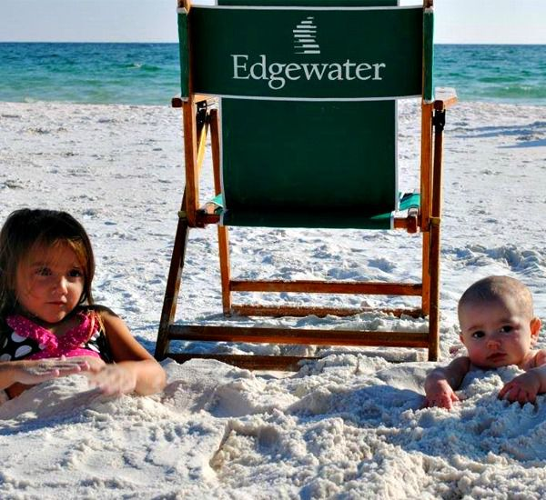The beach at Edgewater Beach Condominiums in Destin Florida.