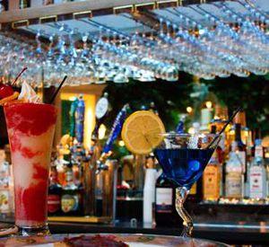 The lounge and bar at Embassy Suites Hotel Destin at Miramar Beach in Destin Florida