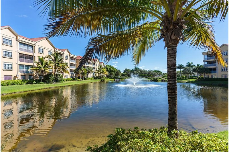 Gorgeous grounds at Bella Lago in Fort Myers Beach Florida