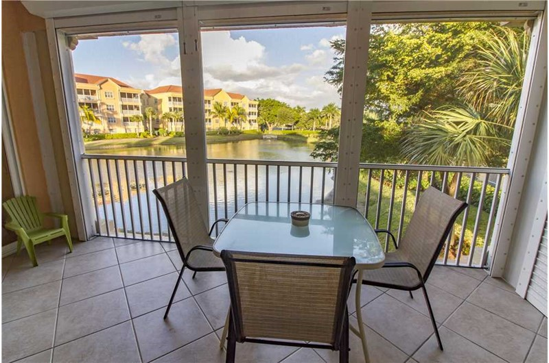 Relax on your balcony at Bella Lago in Fort Myers Beach Florida