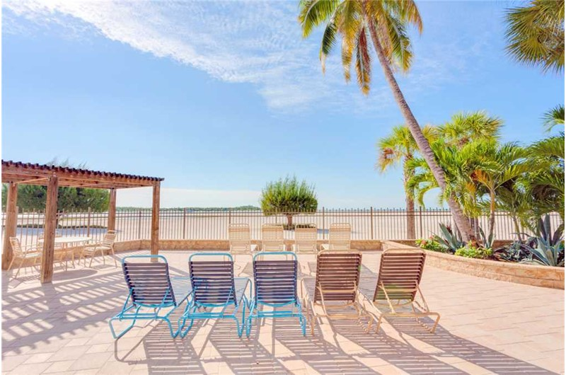 Wonderful sundeck at Carlos Pointe in Fort Myers FL