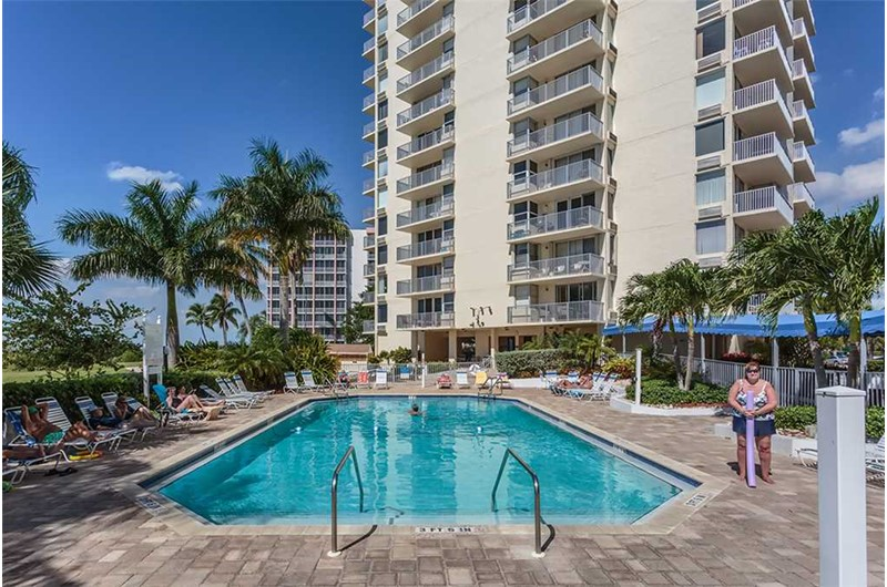 Enjoy a dip in the pool at Estero Beach and Tennis Club in Fort Myers Beach FL