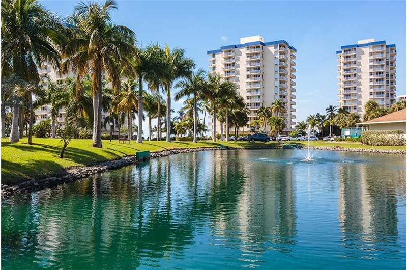 Enjoy a lake at Estero Beach and Tennis Club in Fort Myers Beach FL