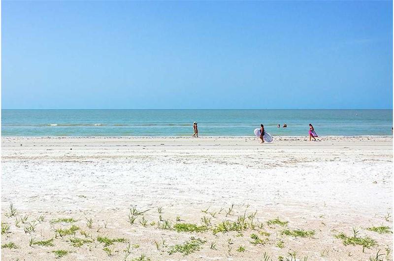 Enjoy the white sand beach at Estero Beach and Tennis Club in Fort Myers Beach FL
