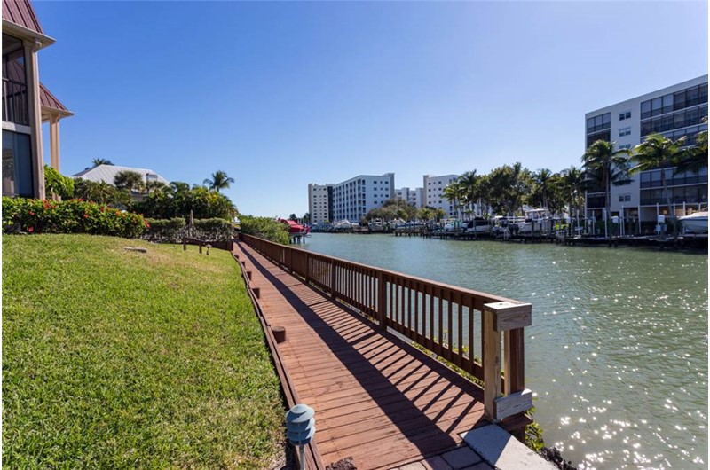 Gorgeous canal runs along Estero Yacht & Racquet in Fort Myers Beach Florida