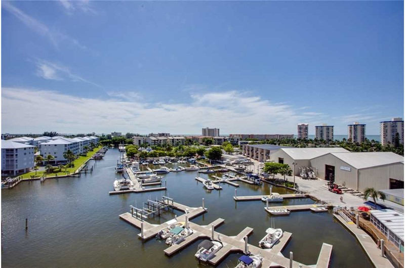 Birds eye view of Palm Harbor Condos in Fort Myers Beach FL