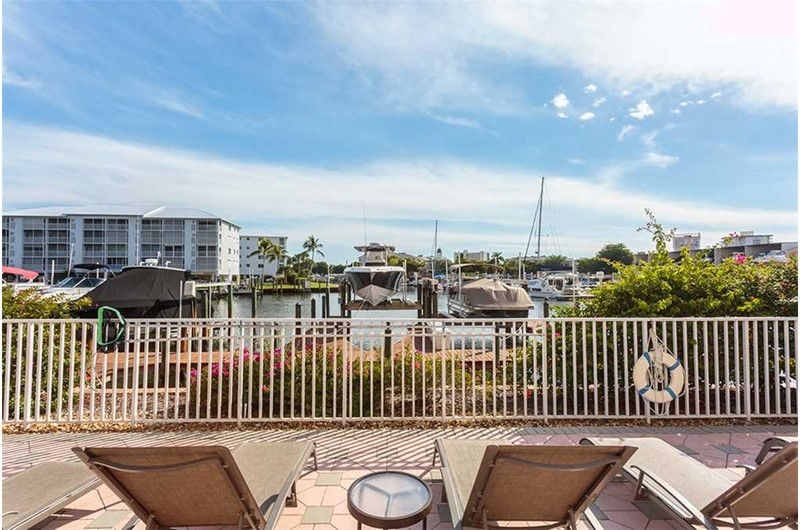 Wonderful view of the harbor at Palm Harbor Condos in Fort Myers Beach FL