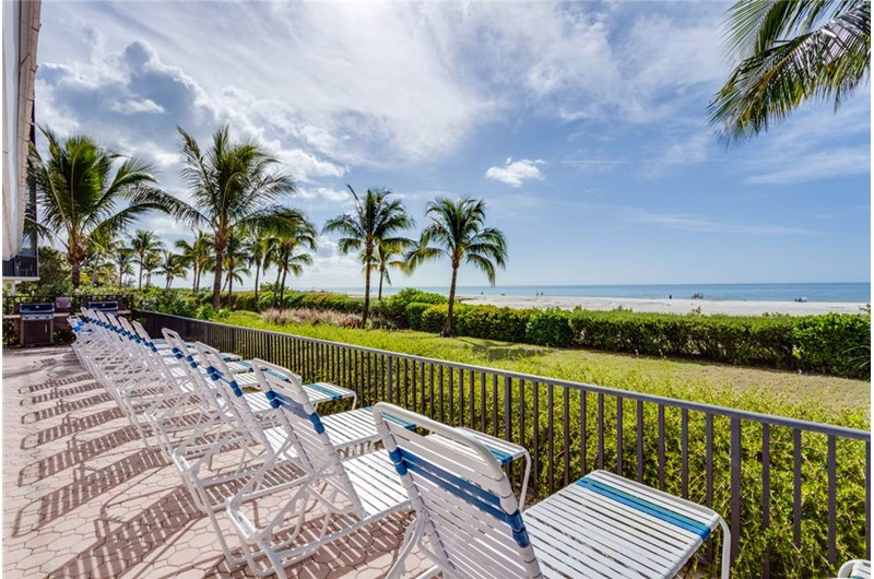 Enjoy the gorgeous Gulf from Riviera Club in Fort Myers Beach Florida