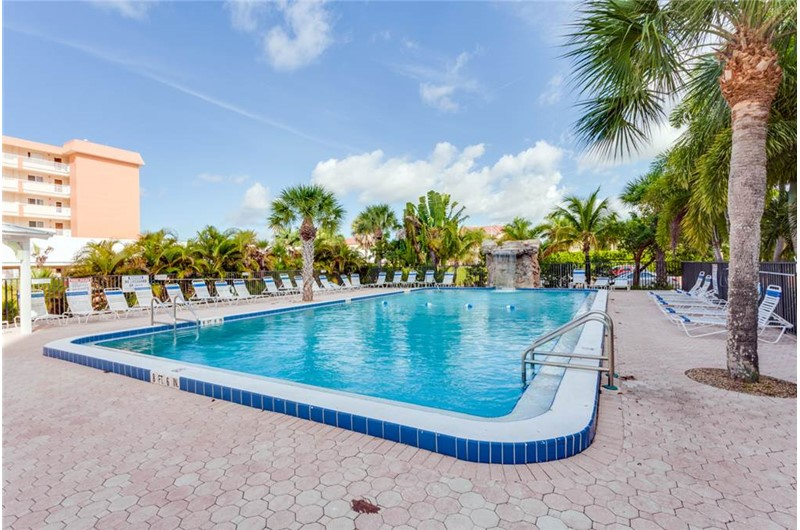 Enjoy this amazing pool at Riviera Club in Fort Myers Beach Florida