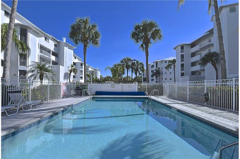 Inviting pool area at Royal Pelican in Ft. Myers Beach Florida