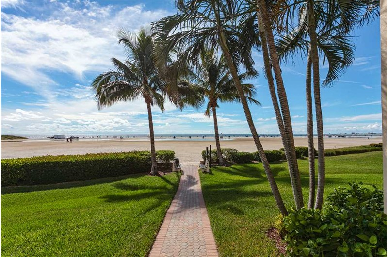 Beach access from Sandarac in Ft. Myers Beach Florida