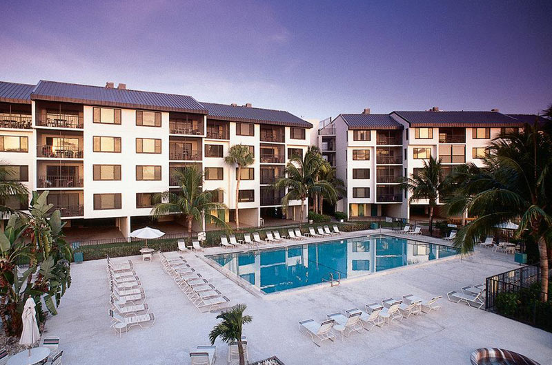 View of pool at Santa Maria Condos in Fort Myers Beach FL