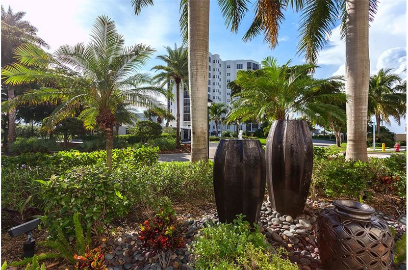Pretty green space at Waterside in Fort Myers Beach Florida