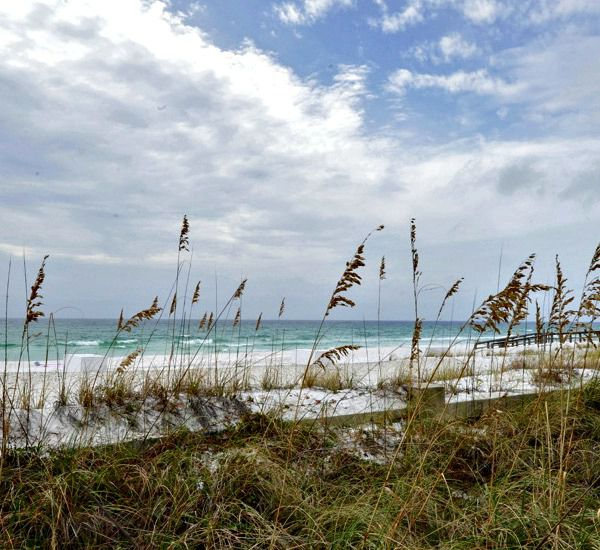 View over the dunes and sea oats to the Gulf at Azure Fort Walton Beach