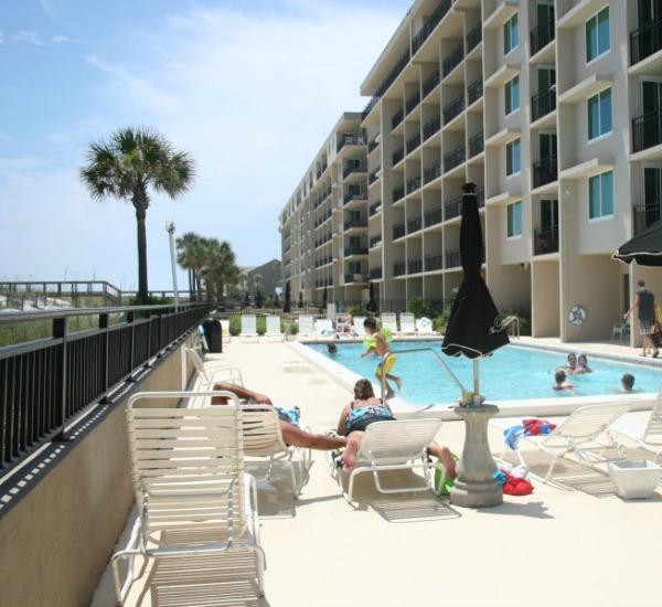 Beachfront pool at The Breakers in Fort Walton Beach FL