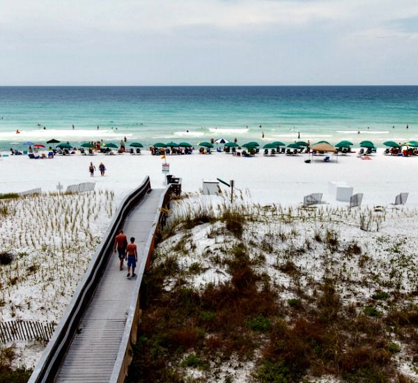 Boardwalk at Gulf Dunes in Fort Walton Florida