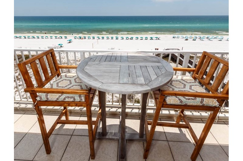 lovely balcony view at Gulf Dunes in Fort Walton Beach FL