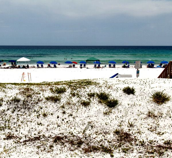 View over the dunes to the beach and Gulf at Gulfside Condo Fort Walton Beach
