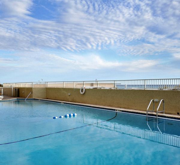 Plenty of room for all in the pool at Island Echos Condominiums in Fort Walton Florida