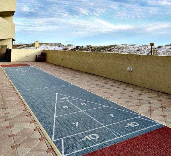 Shuffleboard court at Island Echos Condominiums in Fort Walton Florida