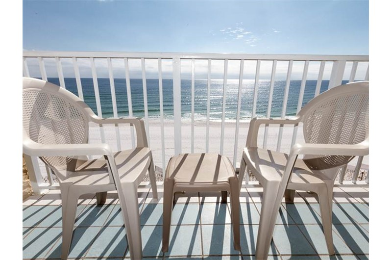 Direct view of the Gulf at Island Echos Condominiums in Fort Walton Florida