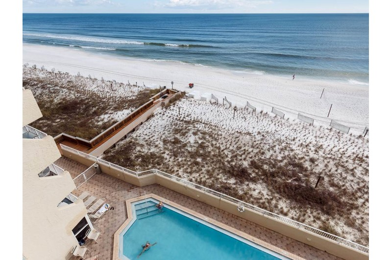 Get a view of both the pool and Gulf at Island Echos in Fort Walton Beach Florida