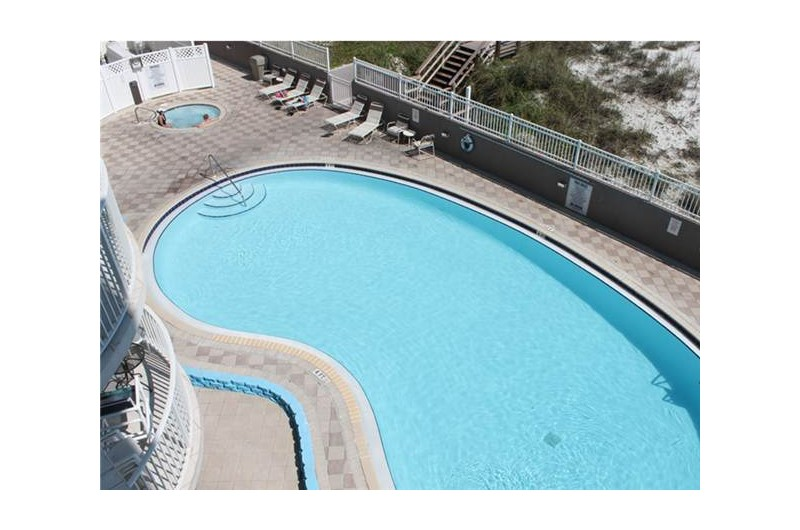 Birds eye view of the pool at Island Princess in Fort Walton Beach FL
