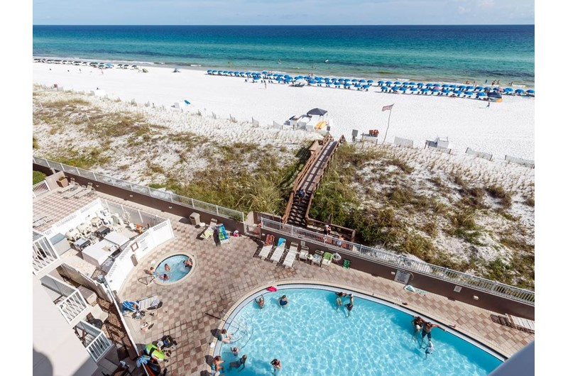 View the pool and beach from Island Princess in Fort Walton Beach FL