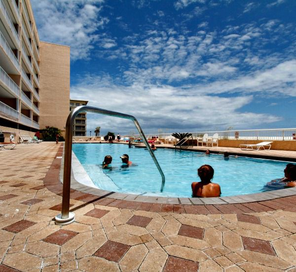The whole family will fit in the pool at Islander Beach Resort  in Fort Walton Florida