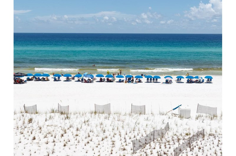 Direct Gulf and beach view from Islander Beach Resort  in Fort Walton Beach Florida