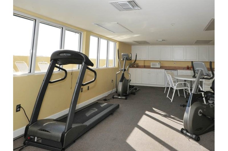 Gym area at Pelican Isle Condos in Fort Walton Florida