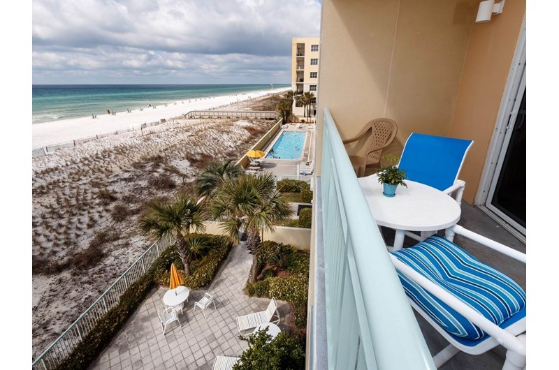 Amazing views from the balcony at Pelican Isle Condos in Fort Walton Florida
