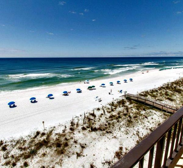 Panoranic balcony view at Surf Dweller Fort Walton Beach