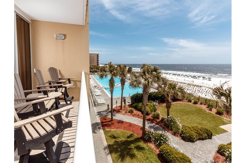 Great view of the beach  and grounds from Waters Edge Condos in Fort Walton FL