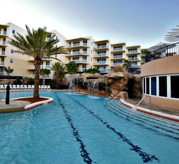 One of three swimming pools at Waterscape Resort in Fort Walton Beach