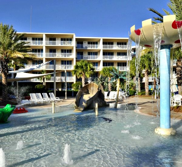 Kid-pleasing fountains dot the grounds at Waterscape Resort in Fort Walton Beach.