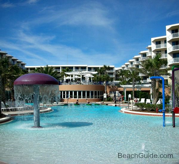 Water features at Waterscape Resort in Fort Walton Beach