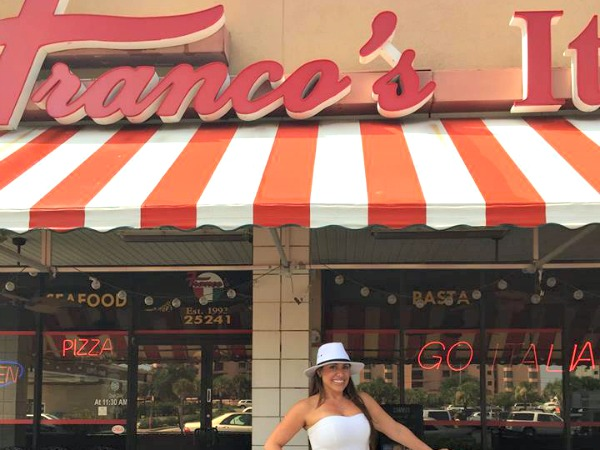 Franco's Italian Restaurant in Orange Beach Alabama