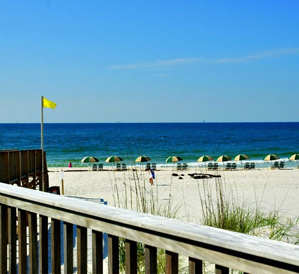 View of the beach at Beach Club Condominiums in Gulf Shores Alabama