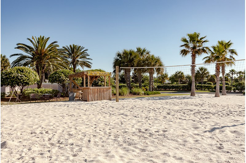 Enjoy a rigorous game of sand volleyball at Beach Club in Gulf Shores Alabama