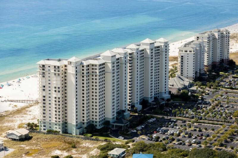 Back Aerial View of Beach Club Condos Gulf Shores