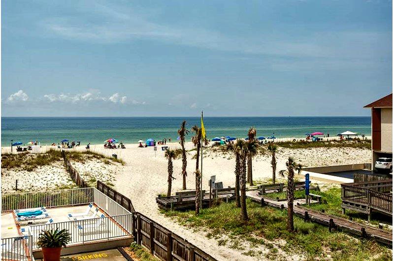 View of beach from Buena Vista in Gulf Shores AL