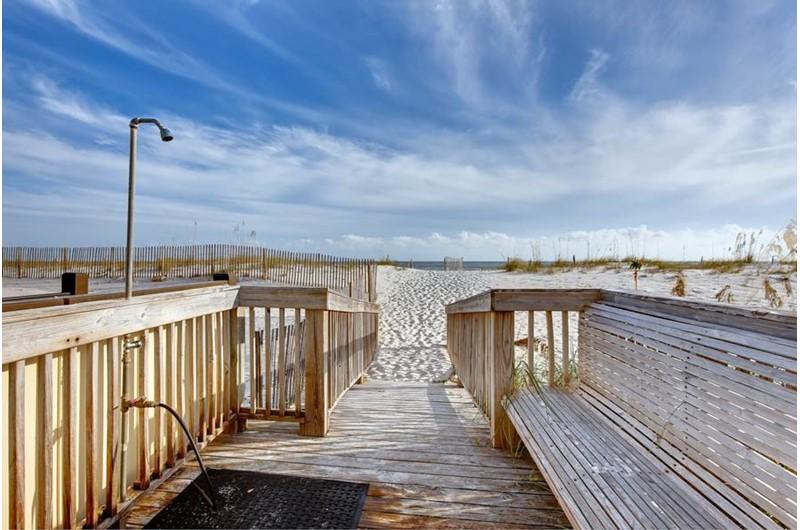 Beach walk-over from Buena Vista in Gulf Shores Alabama