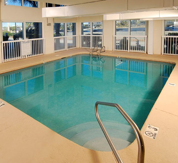 Indoor pool at Caribbean Condominiums in Gulf Shores AL