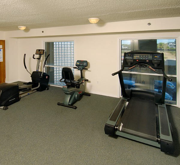 Fitness center at Caribbean Condominiums in Gulf Shores AL