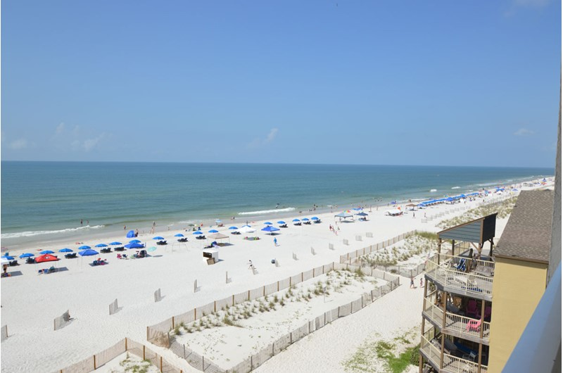 Gorgeous view from Caribbean Condos in Gulf Shores Alabama